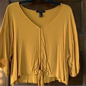 Mustard Yellow Forever 21 Blouse sz M